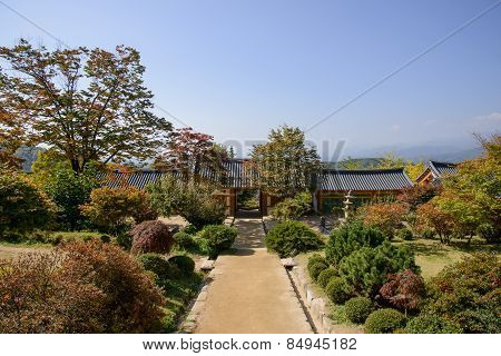 Yeongju, Korea - October 15, 2014: Entrance Of Buseoksa Temple