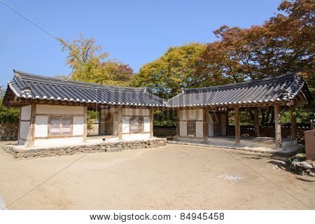 Yeongju, Korea - October 15, 2014: Hakgujae And Jirakjae In Sosuseowon