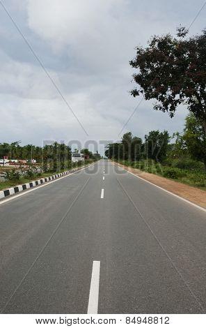 Road passing through a landscape, Mysore, Karnataka, India