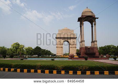 War memorial in a city, India Gate, Delhi, India