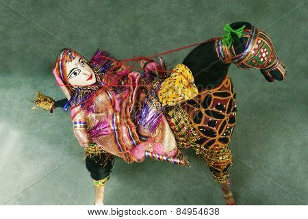Close-up of traditional puppets, New Delhi, India