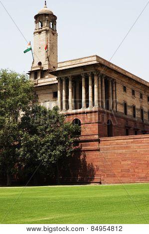 Low angle view of a government building, Rashtrapati Bhavan, Rajpath, New Delhi, India