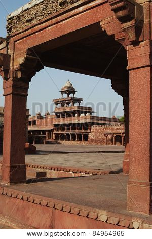 Architectural detail of a palace, Panch Mahal, Fatehpur Sikri, Agra, Uttar Pradesh, India