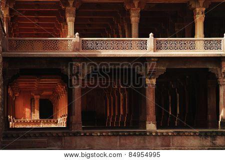 Facade of a palace, Panch Mahal, Fatehpur Sikri, Agra, Uttar Pradesh, India