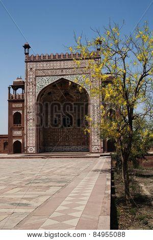 Facade of a mausoleum, Tomb Of Akbar The Great, Sikandra, Agra, Uttar Pradesh, India