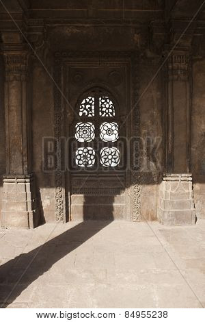 Architectural details of a mosque, Sayad Sidi Mosque, Ahmedabad, Gujarat, India