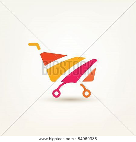 Shopping Cart Simple Icon, E-commerce, And Internet Marceting Conceptual Symbol