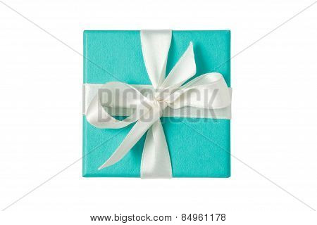 Isolated Gift Box On White Background With Path