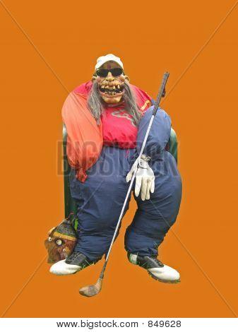 Scary Golfer Scarecrow