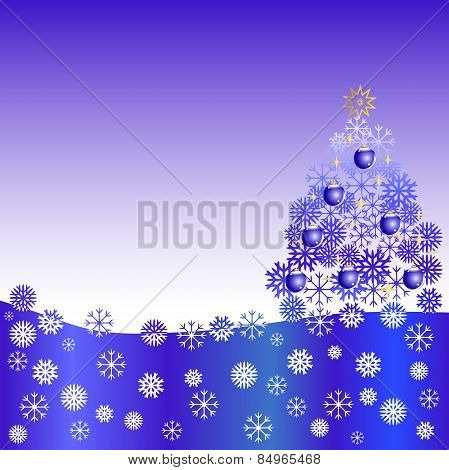 Snowflakes Christmas Tree