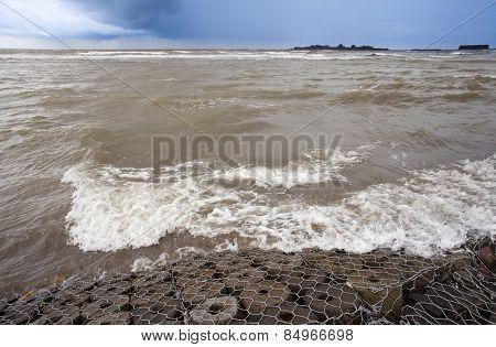 Surf on the beach, Alibag, Raigad District, Konkan, Maharashtra, India