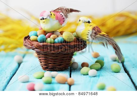 Birds In A Basket