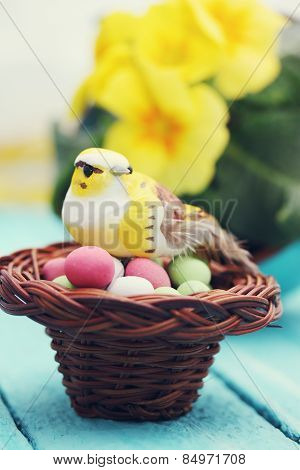 Bird In The Nest, Easter Decoration