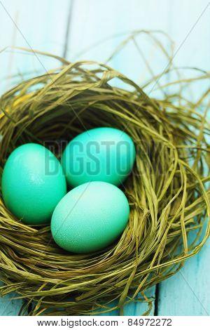 Easter Turquoise Eggs