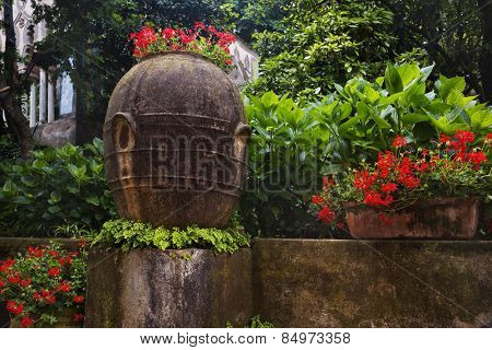 Plants in the garden, Villa Cimbrone, Ravello, Province of Salerno, Campania, Italy