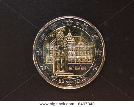 Bremen townhall on a Euro coin