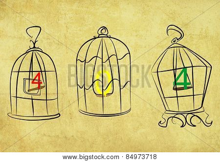 Illustrative representation of 404 caught in the cage