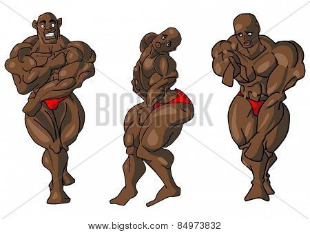 Illustrative representation of body building embarrassment