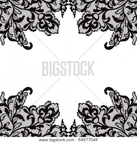 Ornamental floral greeting card. Vector illustration.