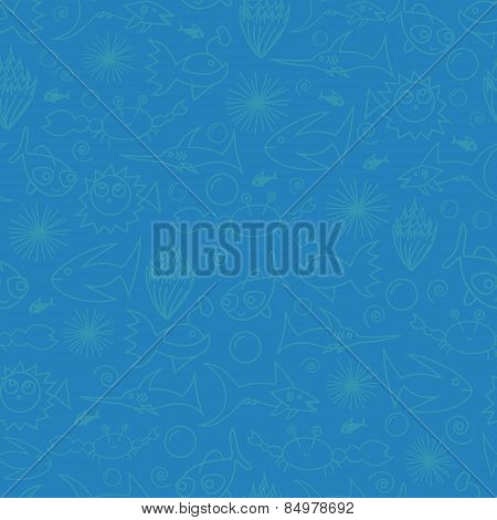 Underwater Seamless Vector Pattern