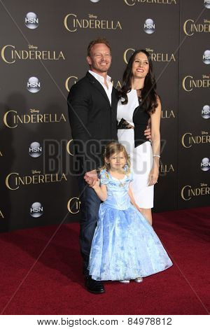 LOS ANGELES - MAR 1:  Ian Ziering, Erin Kristine Ludwig, Mia Ziering at the