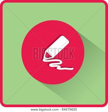 Stock Vector Illustration:  pencil icon. Flat vector illustration