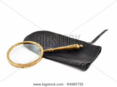 Magnifying glass in a case