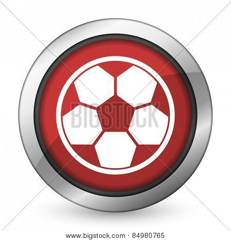 soccer red icon football sign
