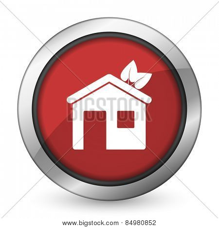 house red icon ecological home symbol