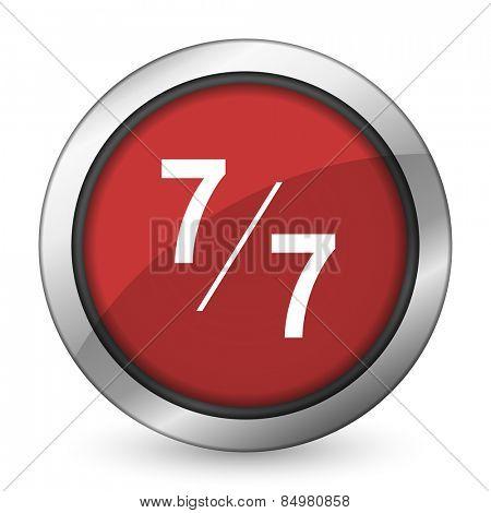 7 per 7 red icon