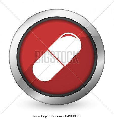 drugs red icon medical sign