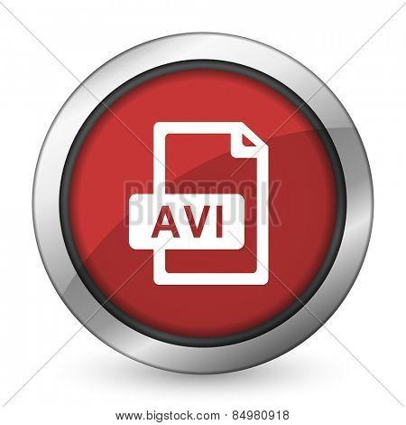 avi file red icon