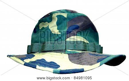 Camou Hat isolated on white background