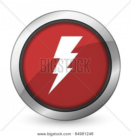 bolt red icon flash sign