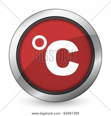 celsius red icon temperature unit sign