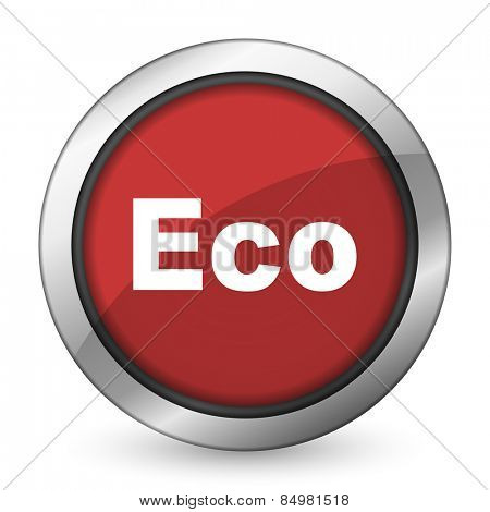 eco red icon ecological sign