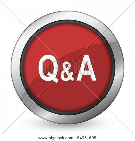 question answer red icon