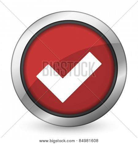 accept red icon check sign