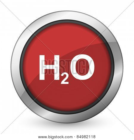 water red icon h2o sign