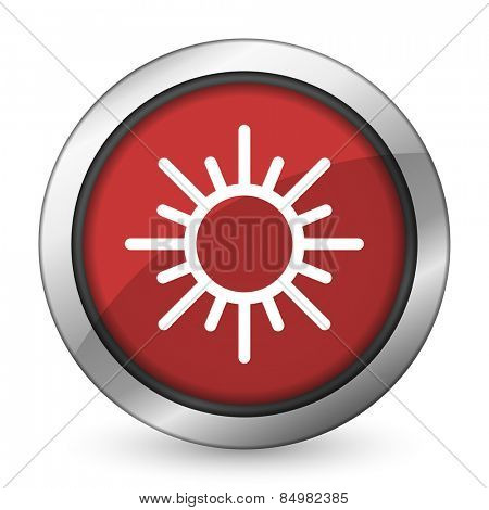 sun red icon waether forecast sign