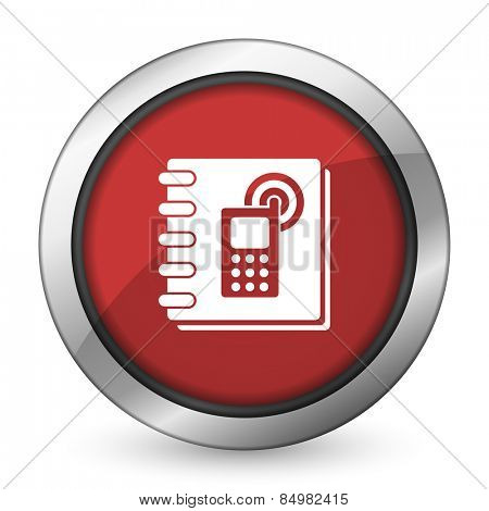 phonebook red icon