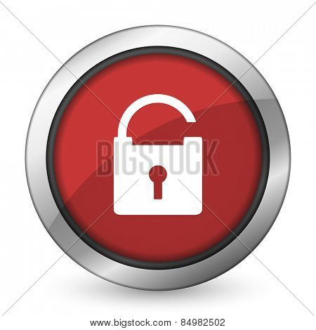 padlock red icon secure sign
