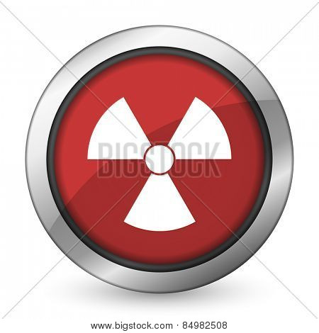 radiation red icon atom sign