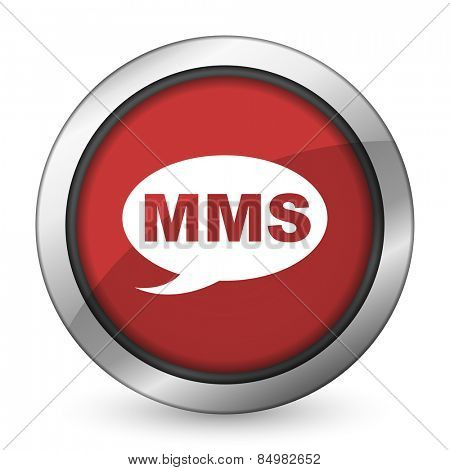 mms red icon message sign