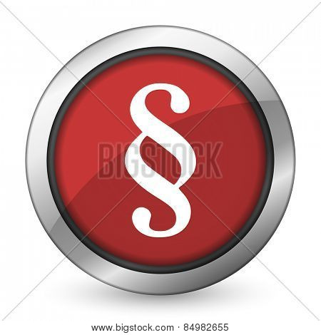 paragraph red icon law sign