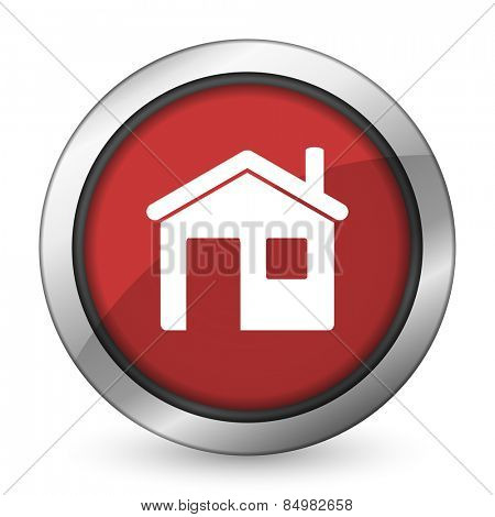 house red icon home sign