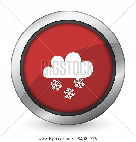 snowing red icon waether forecast sign