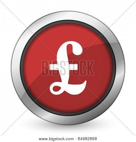 pound red icon