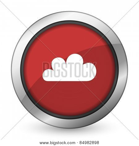 cloud red icon waether forecast sign