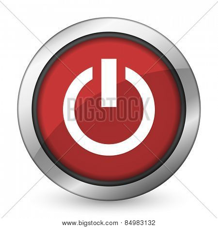 power red icon on off sign